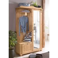 porte manteau armoire armoire porte manteau 1 porte miroir pin naturel home affaire