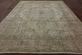 Gold Oriental Rug Overdyed Collection Oriental 10x13 Gold Hand Knotted Floral Wool