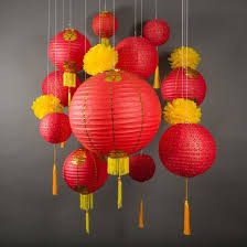 lunar new year lanterns 13 pc new year celebration party pack paper lantern