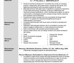 cv for project manager sample project management resume example 10 free word pdf sample project