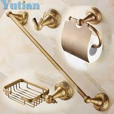 hpb brass products bathroom accessories set towel rack paper
