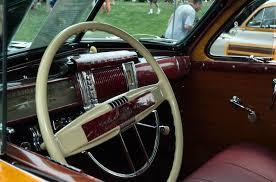 chrysler steering wheel 1941 chrysler royal tc 9 pass barrel back woody dark green