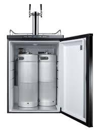 Mini Fridge Kegerator Summit Sbc635mbitwin Built In Two Faucet Commercial Beer Dispenser