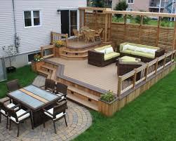 Backyard Deck Ideas Gorgeous Wood Patio Deck Ideas Simple Backyard Patio Decorating