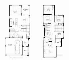 narrow lot 2 story house plans 2 story house plans perth fresh narrow lot storey house