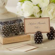 6 pc pine cone place card holder set