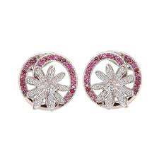 diamond earrings price buy ruby and diamond tanishq earrings at best price online india
