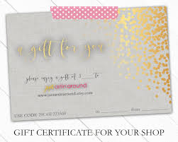 gift certificate bundle gift certificate template gift