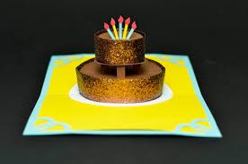 chocolate cake birthday pop up card creative pop up cards