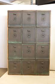 Antique Wood File Cabinet by Antique Double Sided Safety Deposit Box Cabinet At 1stdibs