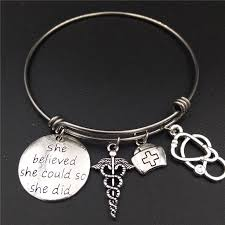 graduation jewelry gift aliexpress buy stainless steel expandable wire bangle