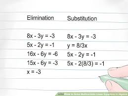3 ways to solve multivariable linear equations in algebra