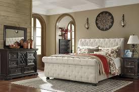 ashley king bedroom sets willenburg linen king upholstered sleigh bed from ashley coleman