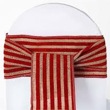 burlap chair sash tone burlap jute chair sash with stripes 1pcs