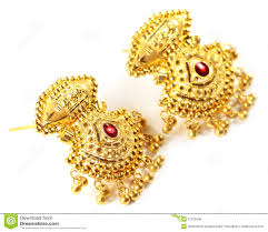 gold earrings for wedding indian wedding earrings for stock photo image of accessory