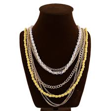 bead necklace style images New style gold chain costume statement bead jewelry long necklace jpg