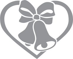 wedding ribbon wedding bells with ribbon and heart pre cut patterns