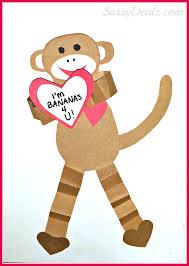 valentine u0027s day heart monkey craft for kids valentines day