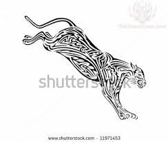 jumping tribal jaguar design
