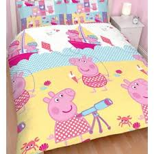 Peppa Pig Duvet Cover 100 Cotton Peppa Pig Double Queen Doona Cover Licensed Kids