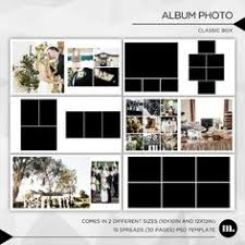 12 X 12 Photo Album 12x12 Psd 30 Pages Wedding Album Template 15 Spread Classic