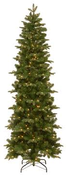 feel real prescott pencil slim hinged tree with 350 clear lights