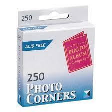 Photo Album Corners Album Company Photo Corners Pack Of 250 Pc250