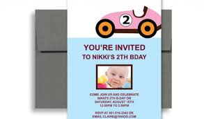 2 year old boy birthday invitations two year old pink car