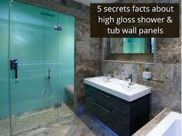 Tiled Wall Boards Bathrooms - 5 secret facts about high gloss shower and tub wall panels