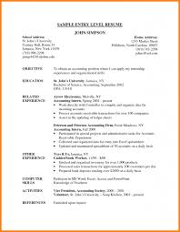 Sample Entry Level Accounting Resume by Stunning Entry Level Accountant Resume Sample Contemporary Best