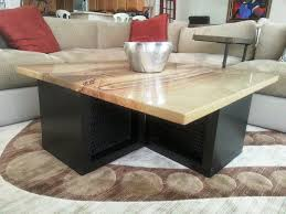 Granite Top Coffee Table Astounding Coffee Table With Granite Table Top Combined Black Oak