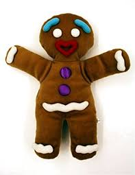 shrek musical gingy gingerbread man boy plush puppet workable