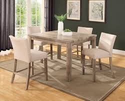 wood counter height table 5 pc 48 counter height dining set in weathered wood finish