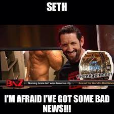 Bad News Barrett Meme - acer on twitter wrestle react ha that was epic wade bad news