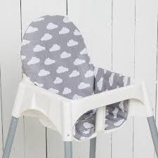 chaise pour coussin nuages gris pour chaise haute antilop de ikea puckdaddy