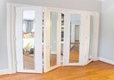 Stanley Bifold Mirrored Closet Doors Attractive Bifold Mirrored Closet Door Image Of Stanley Bifold