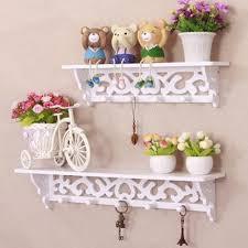 2016 wall shelf home decor wood white curved wall shelf holder