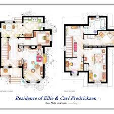 up house floor plan artist recreates tv show apartments with intricate floorplans