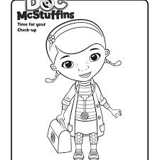 doc mcstuffins coloring pages stretching doc mcstuffins