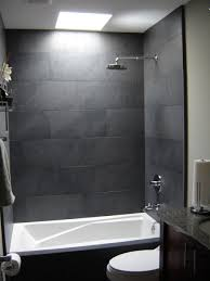 Two Tone Gray Walls by Bathroom Tile Denver