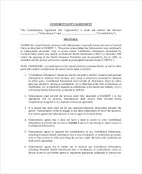 9 medical confidentiality agreement templates u2013 free sample