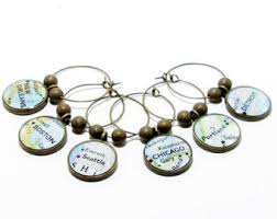 travel wine charms etsy