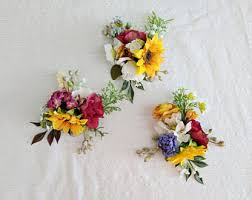 Corsage Flowers Flower Corsage Etsy