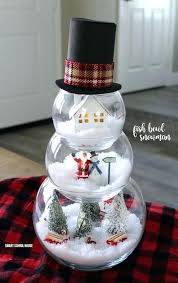 melted snowman ornament ideas cutest for this winter fish bowl can