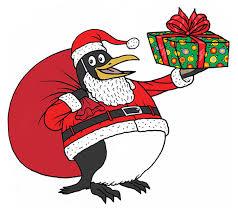 santa claus an white not anymore meet santa the penguin