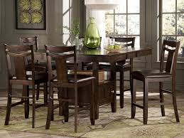 Painted Dining Room Set 6 Person Dining Table And Chairs Set Made Of Wood In Brown