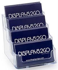 Clear Business Cards 4 Pocket Business Card Holder Acrylic Desktop Card Display