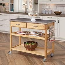 kitchen island with wheels amazon com large kitchen island cart wheels rolling roller