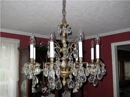 Antique Brass And Crystal Chandelier For Dining Room  Best Home - Crystal chandelier dining room