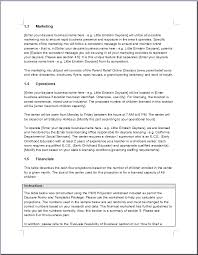 home care business plan template 5 child care plan templates free
